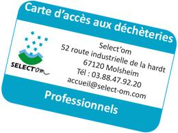 carte d'accès en déchèterie pour les professionnels