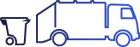 un camion et une poubelle
