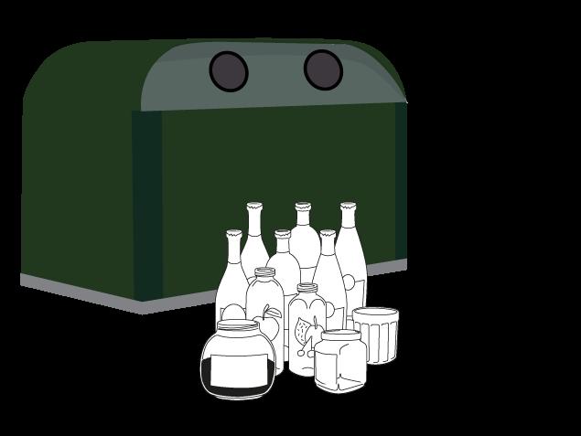 conteneur verre et emballages en verre