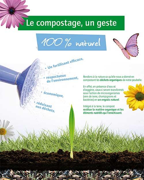 affiche sur le compostage
